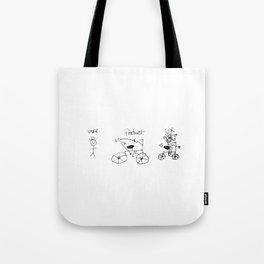 UX/UI Bike Sketch - User Experience Rocks Tote Bag
