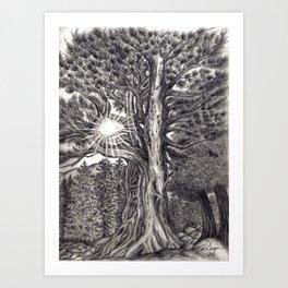 Black and White 1 Art Print