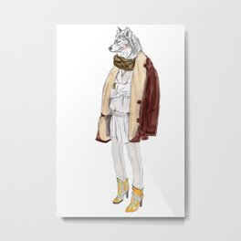 into the wildfox Metal Print