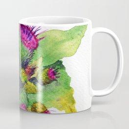Watercolour Thistles Coffee Mug