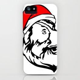 Australian Shepherd Dog with Christmas Santa Hat iPhone Case