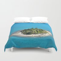 island Duvet Covers featuring Island by Jimmy Duarte