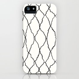 Moroccan Diamond Weave in Black and White iPhone Case