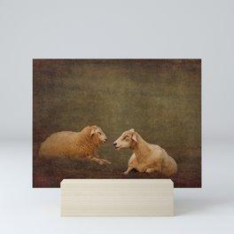 The smiling Sheeps Mini Art Print