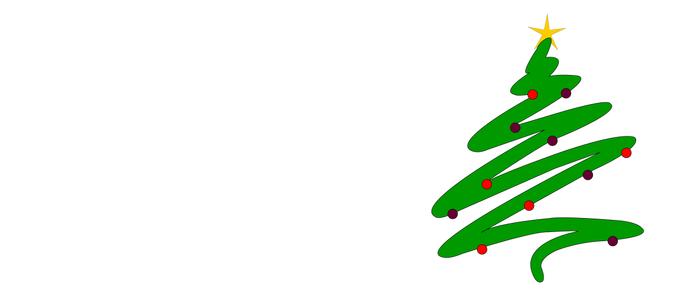 Minimalist Green Christmas Tree Doodle with Ornaments and Star Coffee Mug