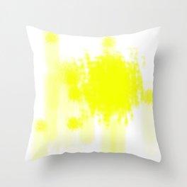 I feel yellow Throw Pillow