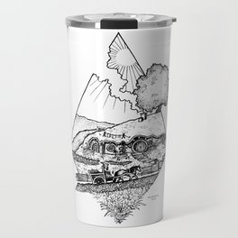 In a hole in the ground... Travel Mug