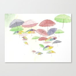 rainbow walk Canvas Print