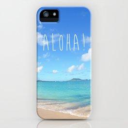 Lanikai Aloha v2 iPhone Case