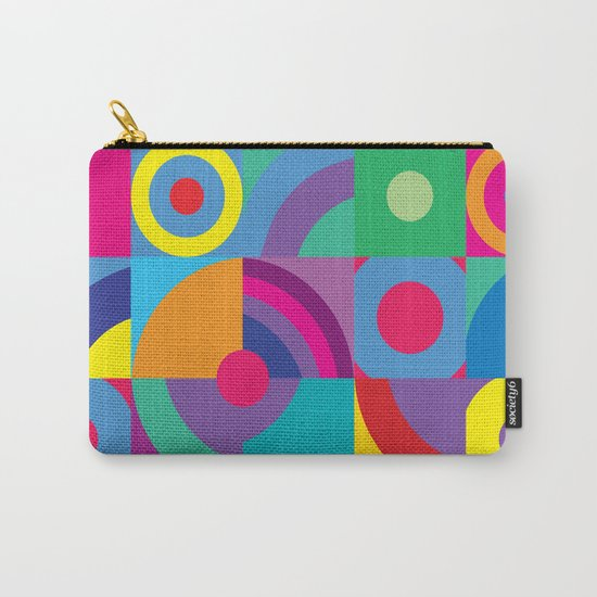 Geometric Figures in color Carry-All Pouch