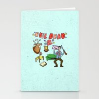 evil dead Stationery Cards featuring ♥ EVIL DEAD 2 ♥ by Josh LaFayette