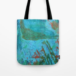 Blue ocean - abstract,acrylic, minimal art piece in shades of blue Tote Bag