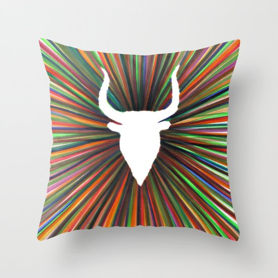 bull radiant color Throw Pillow