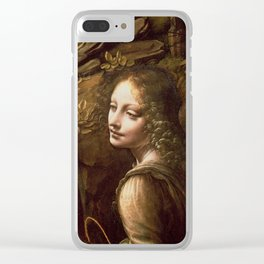 "Leonardo da Vinci ""The Virgin of the Rocks (London)"" Angel Clear iPhone Case"
