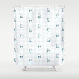 Milk Carton Pattern  Shower Curtain