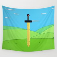 heroes Wall Tapestries featuring No Heroes by Raysounds