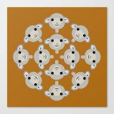 Sheep Circle - 2 Canvas Print