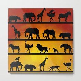 Safari sunset Metal Print