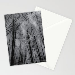 Naked trees - Black and white Stationery Cards