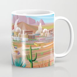 Power Generating Station in Desert Coffee Mug