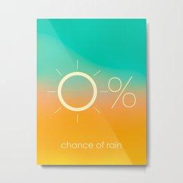0% Chance of rain Metal Print