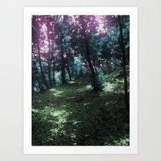 hometown forest Art Print