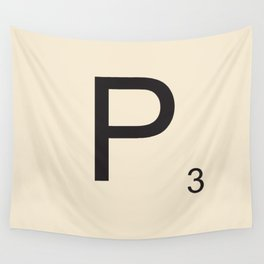 Scrabble P Wall Tapestry