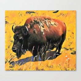 Muddy Buffalo Canvas Print