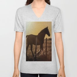 Wyoming Clydesdale Unisex V-Neck
