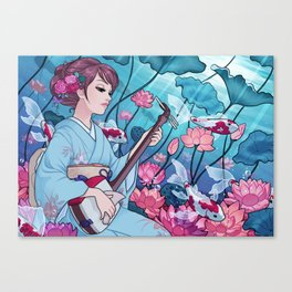 Song of the lake Canvas Print