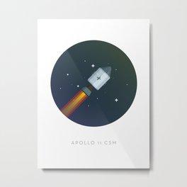 Famous Spaceships - Apollo CSM Metal Print