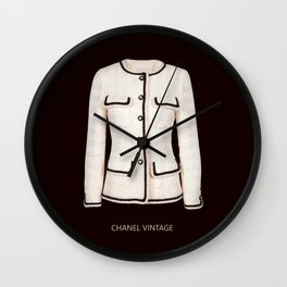 coco vintage black and white jacket Wall Clock