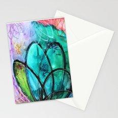 Aqua Bloom Stationery Cards