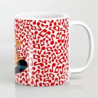 rockabilly Mugs featuring Rockabilly Goddess by sasha alexandre keen