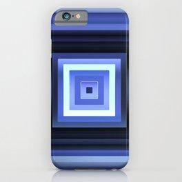 Blueberry Blue Squares Geometric iPhone Case
