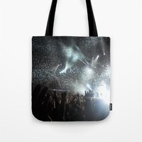 concert Tote Bags featuring Concert by Anna Mundy