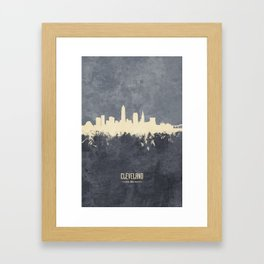 Cleveland Ohio Skyline Framed Art Print