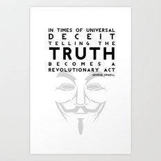 Truth Revolution Art Print