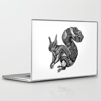 squirrel Laptop & iPad Skins featuring Squirrel by Ejaculesc