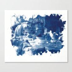 Cyanotype Polar Bear Canvas Print