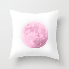 COTTON CANDY PINK MOON Throw Pillow