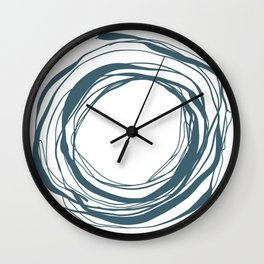 Abstract Line No.17 Teal blue Wall Clock