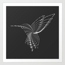 """Abstract Collection"" - Humming bird Art Print"
