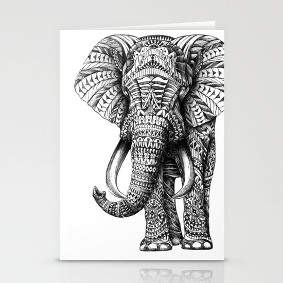 Ornate Elephant Stationery Cards