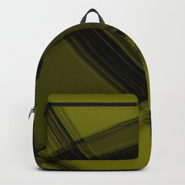 Charcoal sand curved strokes with crisp, chaotic meshes of intersecting Scottish stripes Backpack