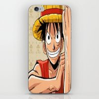 one piece iPhone & iPod Skins featuring One piece by Duitk
