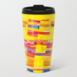 yellow pixel storm Metal Travel Mug