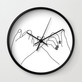 Pinky Promise 3 Wall Clock