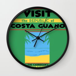 Vintage poster - Costa Guano Wall Clock