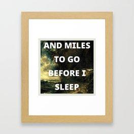 before i sleep Framed Art Print